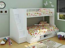 double bunk bed with space underneath. Fine Bunk Trio Bunk Bed With Storage Staircase  3ft Single 4ft Small Double Beds   New For Space Underneath
