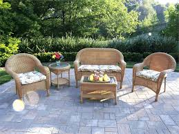 resin wicker furniture. Great 3 Piece Floral Cushion For Patio Wicker Furniture Resin R