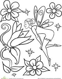 Small Picture Flower Fairy Worksheet Educationcom