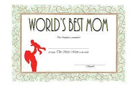 Worlds Best Mom Certificate Template Worlds Best Mom Certificate