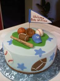 Sport Theme Cakes For Boys Sports Themed Baby Shower Cake Did