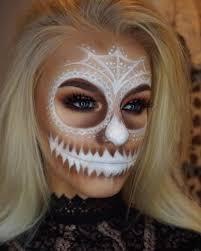 white skull face makeup bmodish