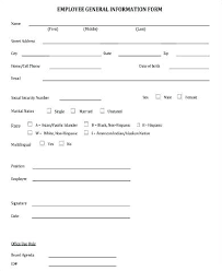 Word Top Personal Information Form Templates Download By Template
