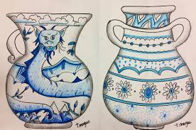 How To Draw A Vase With Designs Vases Drawing At Getdrawings Com Free For Personal Use