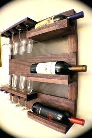 wine glass rack plans wall