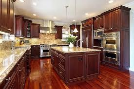 stainless steel appliances jpg impressive granite countertops dark color cherry wood kitchen