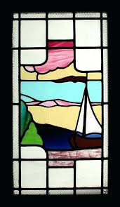 nautical stained glass windows art window a perfect day cling