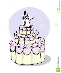 Wedding Cake Illustration Stock Illustration Illustration Of Love