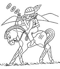 Cowboy En Indianen Kleurplaten Indiaan Paard