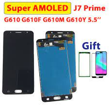 5.5'' Test Screen For Samsung Galaxy J7 Prime Display G610 Assembly Screen  Touch On7 Prime G610M G610F G610 Super AMOLED J7Prime|Mobile Phone LCD  Screens