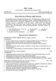 Mechanical Design Engineer Sample Resume
