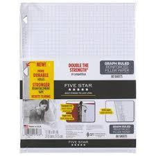 Reinforced Graph Filler Paper Walmart Com