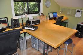 dual office desk. Todayu0027s Featured Workspace Features A Complete Office Remodel Including Custom Desk Dual H