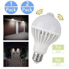 Ebay Dusk To Dawn Lights Details About Indoor Outdoor Motion Sensor Light Bulb Motion Activated Led Dusk To Dawn 7w 9w