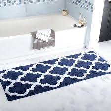 trellis extra long bath rug designs blue white color creative bathroom matemory foam rugs