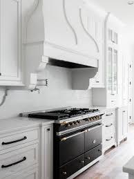 kitchen clever monochrome kitchen wall mounted wood kitchen shelves glass and stone mosaic backsplash white quartz