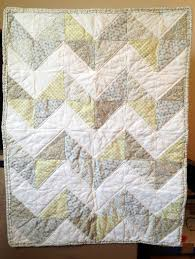 Chevron gray and yellow baby quilt | Sweet Marie's Sewing Room & Chevron gray and yellow baby quilt Adamdwight.com