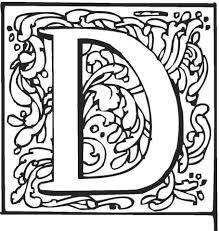 Small Picture Letter D with Ornament coloring page Free Printable Coloring Pages