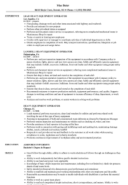 Equipment Operator Sample Resume Heavy Equipment Operator Resume Samples Velvet Jobs 12