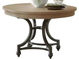 liberty furniture harbor view collection 531 t4254 42 54 round dining table with curved metal base