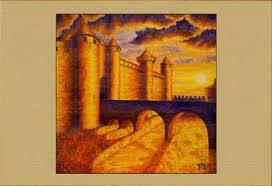 Картина Крепость Каркассон. <b>Рассвет</b> | <b>РЕПРОДУКЦИИ</b> | <b>Рамы</b>