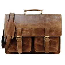 burnished 16 brown buffalo leather messenger bag