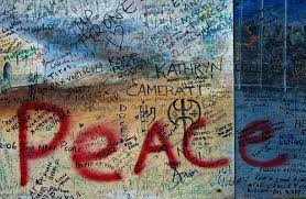 peace painted onto wall