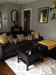 grey and yellow living room the new rug brown blue