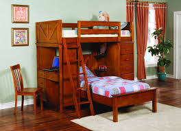 tahoe twin over twin loft bunk bed with built in desk and drawer