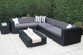 black wicker furniture. Shape Outdoor Wicker Setting Black With Charcoal Fabric Cushions For Furniture