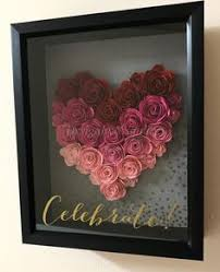check out this shadow box wall art with rolled paper on 3d paper flower shadow box wall art with 3d flowers from sil store silhouette pinterest 3d cricut and