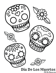 Dia De Los Muertos Printable Coloring Pages Printable Coloring Pages