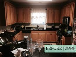 staining kitchen cabinets with gel stain diy