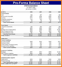 Pro Forma Excel Template Atlas Opencertificates Co