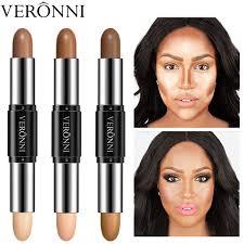 veronni brand double ended dark skin contouring bronzer makeup waterproof face brighten highlighter contour stick