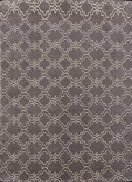 Rugsville Moroccan Trellis Scroll Grey Wool 12117 Rug 9x12 contemporaryarea rugs