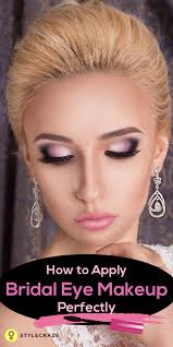 how to apply bridal eye makeup perfectly