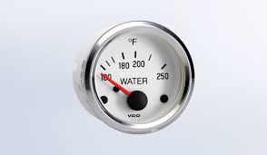 water temperature by type instruments, displays and clusters Vdo Vision Oil Pressure Gauge And Sender Wiring Diagram cockpit white & chrome 250�f water temperature gauge, use with vdo sender