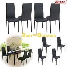 item 3 set of 4 dining chair elegant design kitchen dinette room black leather backrest set of 4 dining chair elegant design kitchen dinette room black