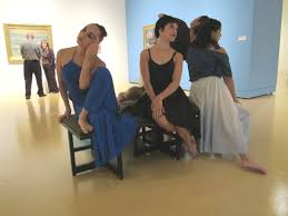 The ZAP Dance Group poses in the Woody and Gayle Hunt Family Gallery as a  teaser leading up to their modern dance perfo… | Modern dance, Art museum,  American modern