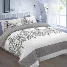 details about luxury owl black design duvet cover set bedding with pillowcase set bed cover
