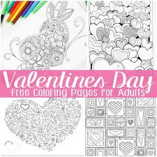 Small Picture Free Valentines Day Coloring Pages for Adults Easy Peasy and Fun