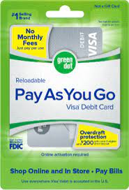 Green dot credit card payment. Pay As You Go Visa Debit Card Green Dot