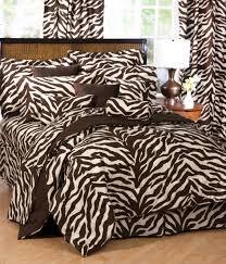enjoyable ideas zebra stripe comforter set bedding brown print bed animal