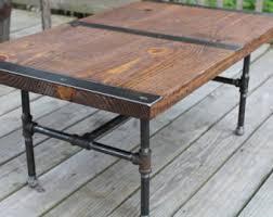 industrial wood furniture. Pipe Leg Coffee Table, Industrial Reclaimed Wood, Vintage Rustic Wood Furniture L