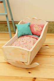 Wooden Doll Cradle- Refinished Shabby Chic | Things to Make ...
