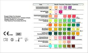 Urine Test Strips Color Chart Health Test For 10 Indicators 100 Urine Tests With Reference Color Chart