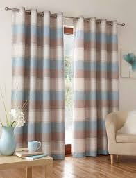 Marvellous Blue Brown Bedroom Design Curtains And White For