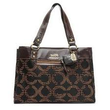 Discount Coach Madison In Monogram Large Coffee Satchels EIQ Clearance