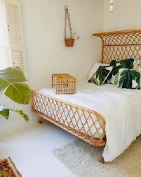 wicker bed frame. Plain Wicker Love The Pairing Of Wicker Bed Frame And Accessories With Crisp  White Linens Tropical Print Pillows BeautifulBedLinen With Wicker Bed Frame D